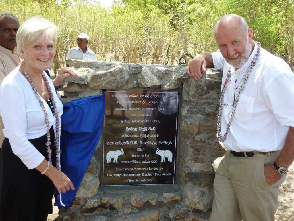 Op 8 augustus 2011 wordt in aanwezigheid van Marjo en zijn vrouw Liesbeth een plaquette onthuld vanwege de aanleg van een elektrische afrastering.