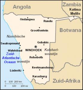 De hoofdstad van Namibië is Windhoek. Een stad met 240.00 inwoners, naar een telling van 2004. Het land is met een lange afstand busreis te bereizen vanuit Zuid-Afrika.