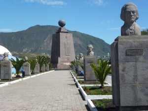 Ecuador ligt op de evenaar. Hiernaar is het land genoemd; Ecuador is Spaans voor evenaar.P1050139