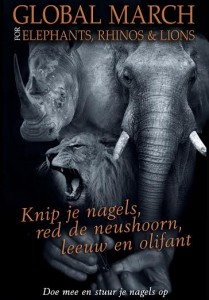 Elephant Global March for Elephant, Rhino's and Lions Olifanten.