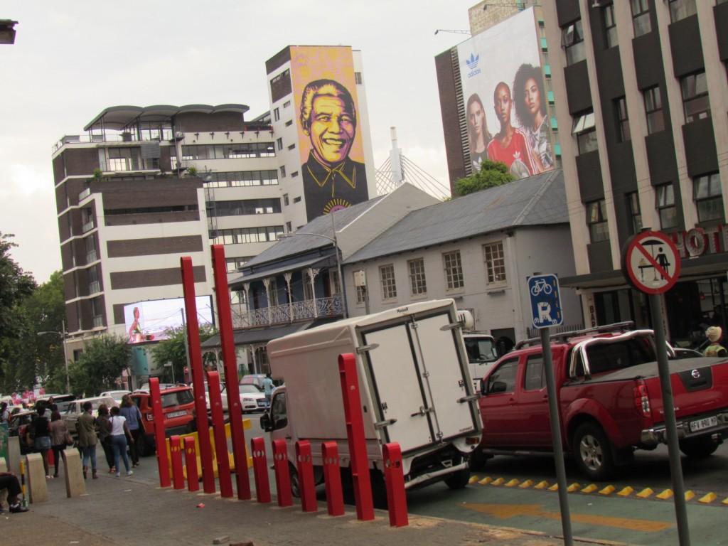 Johannesburg Zuid-Afrika de stad gonst van grootstedelijke activiteiten