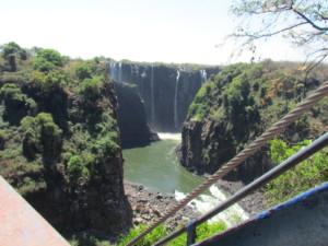 brug over de Zambezi bij Victoria Falls Zimbabwe